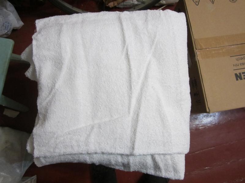 Большая банная махровая белая простыня160х150 см